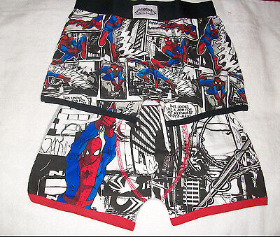 Two (2) Pair Of Boys Marvel Ultimate Superman Boxer Shorts Age 12-13  Years New