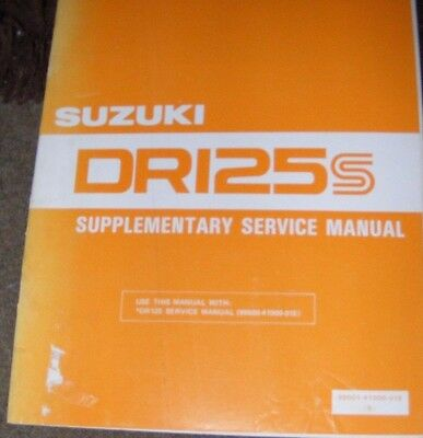 Suzuki  Dr125Sz Supplementary Service Manual 1982   (Contents Listed)