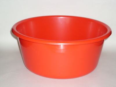 "New Lucy Red Large Round Plastic Washing Up Bowl 35cm 14"" Slight Seconds"