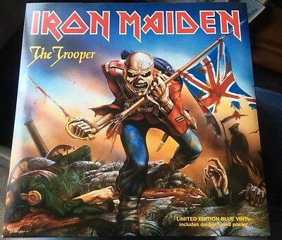 "Iron Maiden - The Trooper Blue Vinyl 7"" With Poster"