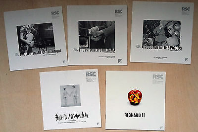 Theatre programmes - RSC Stratford, The Other Place