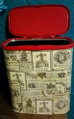 Vintage / Shabby Chic Upcycled Coffee Tin for Coffee/Teabags/Biscuits etc
