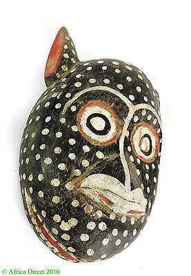 Bozo Mask Black Spotted Mali African Art
