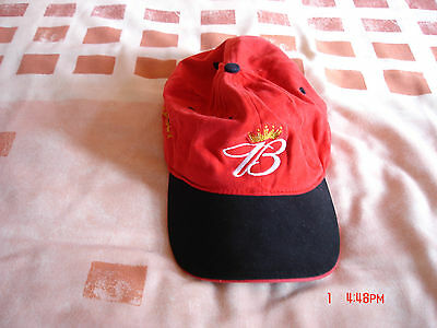 Dale Earnhardt Jr Red/black Budweiser Cap