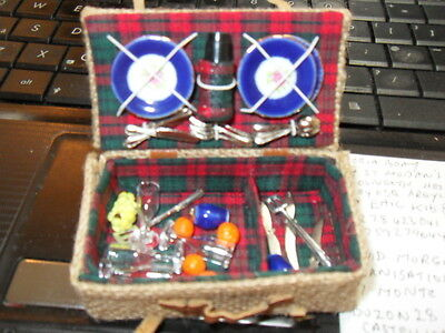 Dolls House  Great Detailed Picnic Set Vintage Collectors Item.  See Photos