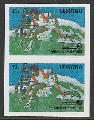 Lesotho (866) 1988 TENNIS Federation 12 IMPERF PAIR unmounted mint