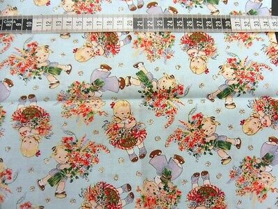 Mable Lucie Attwell 100% Cotton Quilting Fabric Woodrow Studio 50 Cm L X 56 Cm W