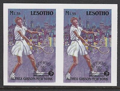 Lesotho (870) 1988 TENNIS Federation 1m55 IMPERF PAIR unmounted mint