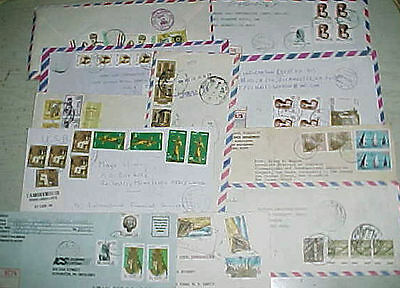 Egypt 12 Registered Covers After 1959 Mostly To Usa