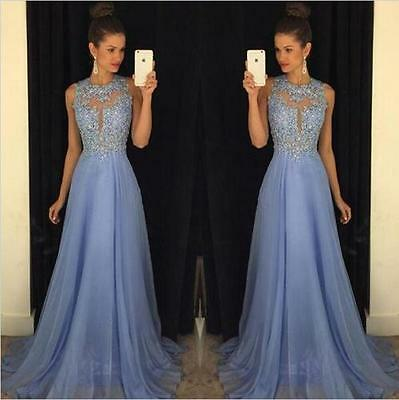Sexy Formal Long Women Lace Dress Prom Evening Party Cocktail Bridesmaid