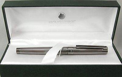 Monteverde Ascona Gunmetal Fluted Rollerball Pen - New in Box