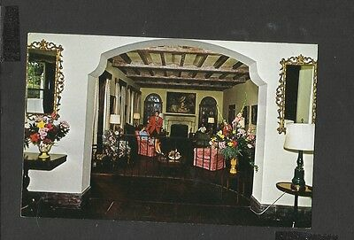 Vintage Colour Postcard Lounge of Newstead Cottages  Paget Bermuda unposted