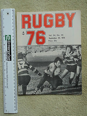 Sydney Rugby Union, Rugby 76, Vol. 54 No. 35. Sept 25. Shute Shield Programme.