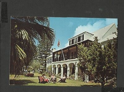 Vintage Colour Postcard Front View Newstead & Cottages  Paget Bermuda unposted