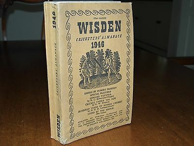 Wisden Cricketers' Almanack 1946 Linen covers  EXCELLENT  condition