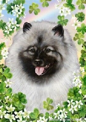 Large Indoor/Outdoor St. Patrick's Flag - Keeshond 31017