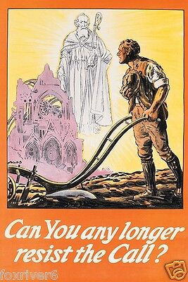 WORLD WAR 1 Poster - Rare - 'Can You Any Longer Resist The Call' WW1 reprint
