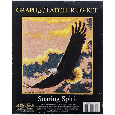 """Soaring Spirit Latch Hook Rug Making Kit 30x36"""" MCG Textiles No Tool Included"""