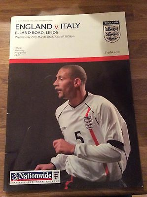 England v Italy Official Matchday Programme 2002