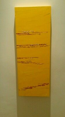 """""""Silent Desert"""" Abstract acrylic painting on canvas by JoJoBaker .sale. Yellow"""