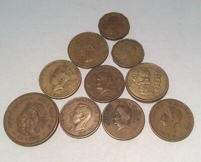 Mixed lot of 10 foreign coins