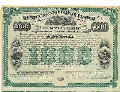 United States Of America Kentucky And Eastern 1000 Dollars 1892