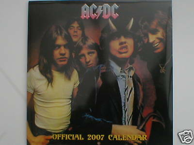 AC/DC the official calendar 2007 sealed collectors item