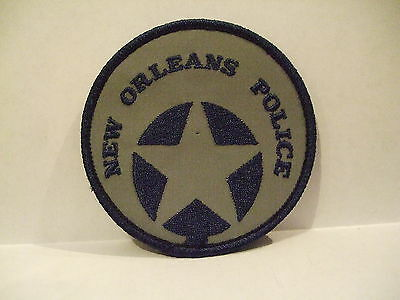 police patch  NEW ORLEANS POLICE LOUISIANA BLUE & SILVER