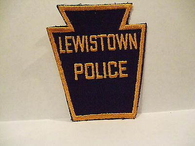 police patch  LEWISTOWN POLICE PENNSYLVANIA OLD STYLE CLOTH BACK