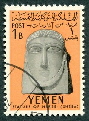 YEMEN 1961 1b black and orange SG141 used FG Statues of Marib #W9