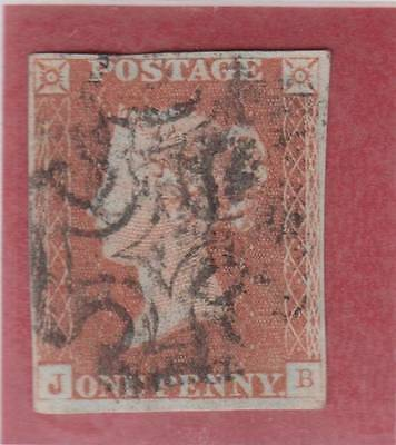 1841 1d. red-brown plate 21 (JB)   - fine used with Maltese Cross cancel.