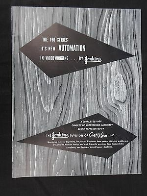 1950's Jenkins 190 Series in Automation in Woodworking Sales Brochure