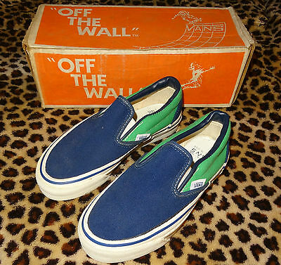 VANS #98 Low Top Skateboard Shoes - Vintage '70s Made in the USA Trainers 3 NG