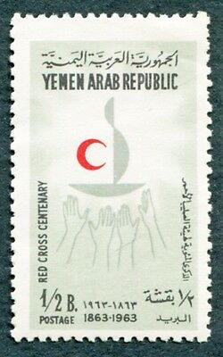 YEMEN 1963 1/2b SG236 mint MH FG Red Cross Centenary #W9