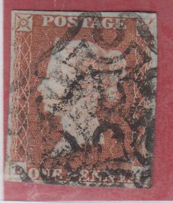 1841 1d. red-brown plate 24 (DG)   - fine used with Maltese Cross cancel.