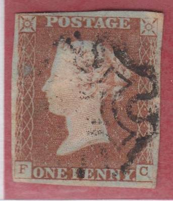 1841 1d. red-brown plate 24 (FC)   - fine used with Maltese Cross cancel.