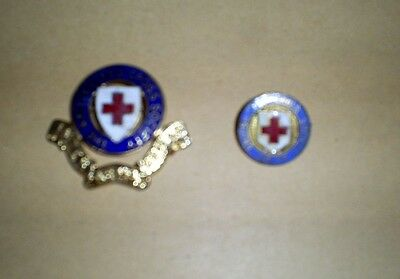 Two Vintage  The British Red Cross Society Junior Enamel Pin Badge