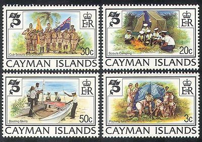 Cayman Is. 1982 Baden Powell/Scouts/Scouting/Cubs/Sailing/Camp Fire 4v (n39973)