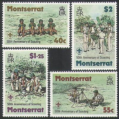 Montserrat 1979 Scouts/Scouting/Camp Fire/Cubs/Youth/Leisure/People 4v (n36347)