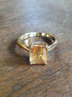 14K Yellow Gold Citrine Ring 3.4 Grams Size 5.5