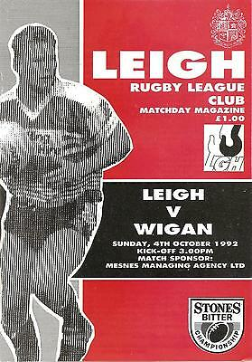 Leigh v Wigan - Division 1 - 1992/93