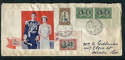 11 29 MY 1939 Royal Visit Train RPO CDS Cancel:Train at Vancouver BC Rare Cachet