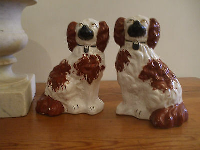 Staffordshire Pottery Spaniel Dogs