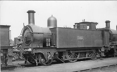 Photo GWR 2-4-0T No 1407  at unknown location