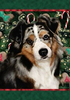 Garden Indoor/Outdoor Holiday Flag - Blue Merle Australian Shepherd 140591