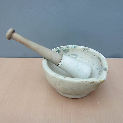 Vintage Large Pestle And Mortar Warranted Acid Proof