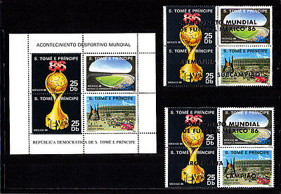 Soccer World Cup 1986 - SAO TOME - Sheet + 2 SS/4 ovp MNH