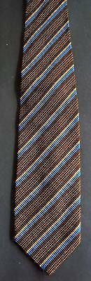 Vintage 90s Striped Silk Tie: Luxury Corded Texture