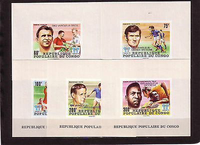Soccer World Cup 1978 - CONGO - 5 S/S imp. silv ovp MNH