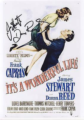 SIGNED ITS A WONDERFUL LIFE MOVIE POSTER PRINT12x8